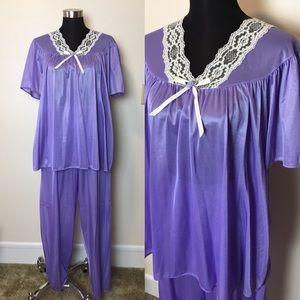 Vintage satin lingerie pajama set